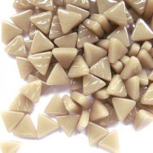 glas mosaik trekanter 1 cm beige