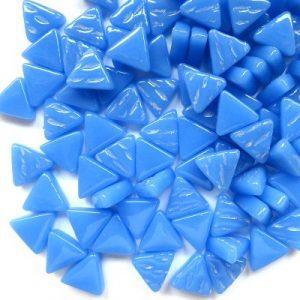 glas mosaik trekanter 1 cm lys blå