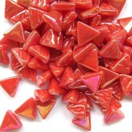 glas mosaik trekanter 1 cm rød