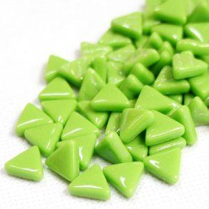 glas mosaik trekanter 1 cm lysegrøn