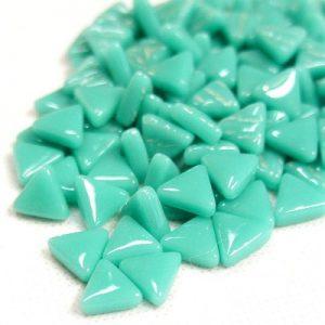 glas mosaik trekanter 1 cm mintgrøn