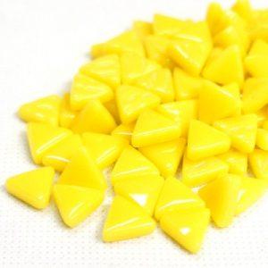 glas mosaik trekanter 1 cm gul