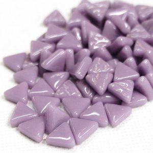 glas mosaik trekanter 1 cm lilla