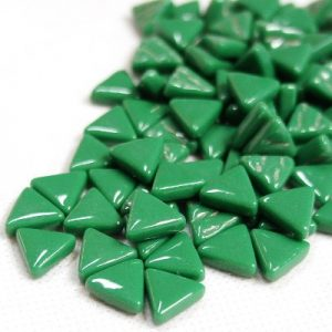glas mosaik trekanter 1 cm grøn