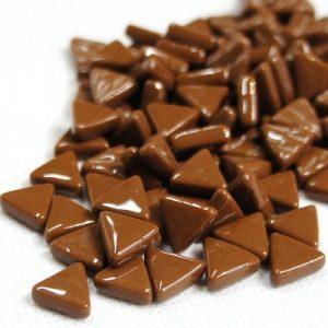 glas mosaik trekanter 1 cm brun