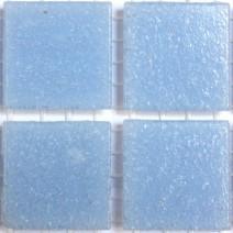 2 x 2 cm glas mosaik lyseblå
