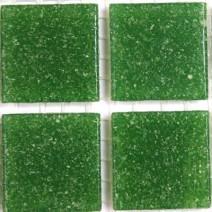 2 x 2 cm glas mosaik grøn