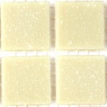 2 x 2 cm glas mosaik råhvid