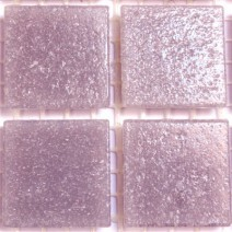 2 x 2 cm glas mosaik lilla