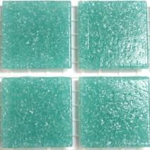 2 x 2 cm glas mosaik turkis