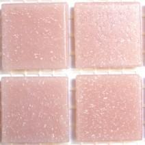 2 x 2 cm glas mosaik lyserød