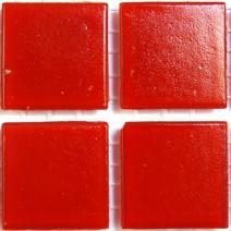 2 x 2 cm glas mosaik rød