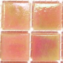 2 x 2 cm glas mosaik fersken