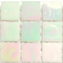2 x 2 cm glas mosaik gul