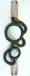 mosaik spejl med slange