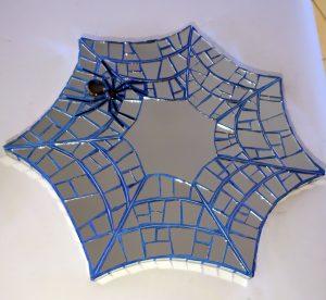 mosaik spejl edderkoppespind
