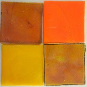 dalle de verre håndrullet fransk glas orange