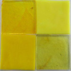 dalle de verre håndrullet fransk glas gul