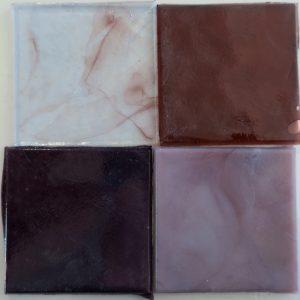 dalle de verre håndrullet fransk glas violet