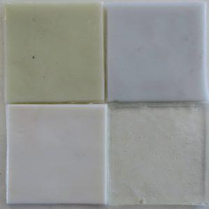 dalle de verre håndrullet fransk glas hvid