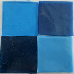dalle de verre håndrullet fransk glas blå