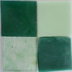 dalle de verre håndrullet fransk glas grøn