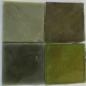 dalle de verre håndrullet fransk glas oliven