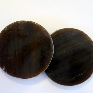 rundt glas 2,5 cm brun