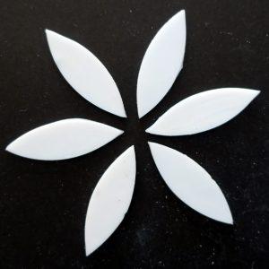glas blade hvid