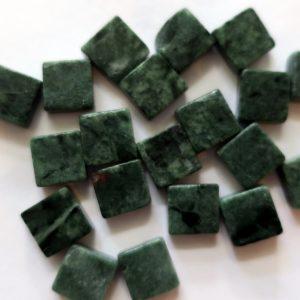 1 x 1 cm marmor grøn