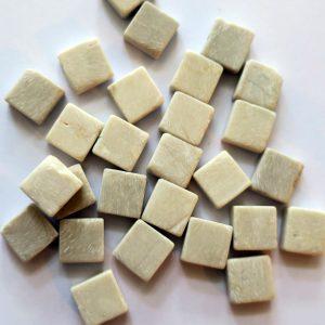 1 x 1 cm marmor hvid