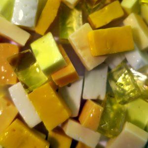 italiensk smalti glas gul