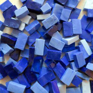 smalti glas blå