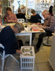 mosaik kursus i Glad Sol København
