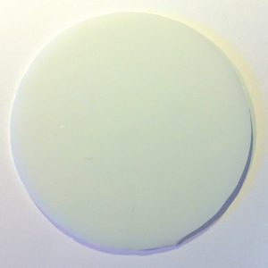 rundt glas 4 cm hvid