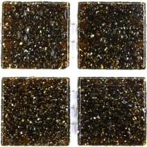 2 x 2 cm klassisk glas mosaik brun