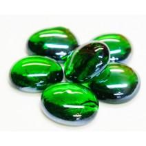 rund grøn glas drops kan bruges til mosaik