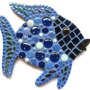 blå mosaik fisk startkit lav selv