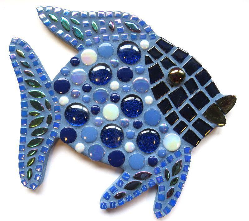Blå fisk 24 cm
